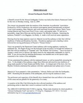 post show press release