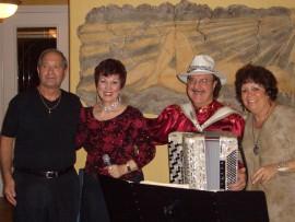 Mary and Mario with hosts Steve & Meredith Mastropietro, Sarasota, FL.